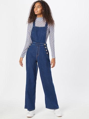 Jeans con pettorina di s.Oliver in blu