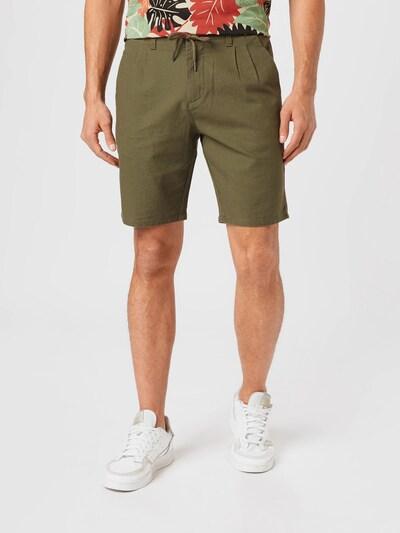 Only & Sons Plisované nohavice 'ONSLEO SHORTS LINEN' - hnedá, Model/-ka