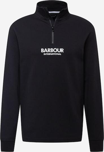 Barbour International Sweatshirt in schwarz / weiß, Produktansicht
