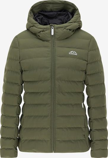 ICEBOUND Winterjas in de kleur Olijfgroen, Productweergave