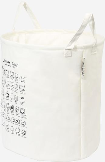 ABOUT YOU Wäschekorb 'Comfy S' in schwarz / weiß, Produktansicht