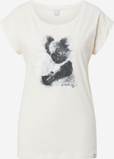 Maglietta 'Koala Bubble' Iriedaily di colore giallo pastello / grigio chiaro / grigio scuro, Visualizzazione prodotti