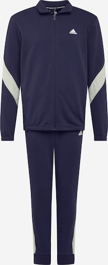 ADIDAS PERFORMANCE Trainingsanzug in blau / weiß: Frontalansicht