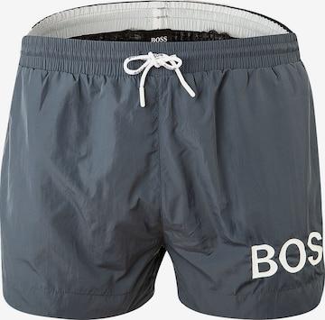 Shorts de bain BOSS Casual en gris