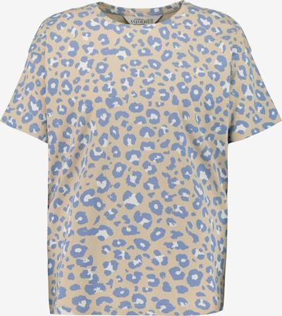 Studio Untold Shirt in beige / taubenblau / weiß, Produktansicht