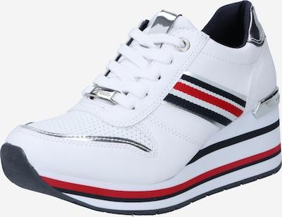éjkék / piros / ezüst / fehér TOM TAILOR Rövid szárú edzőcipők, Termék nézet