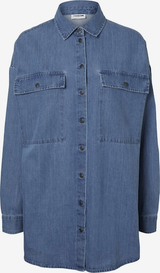 Noisy may Bluse 'Flanny' in blue denim, Produktansicht