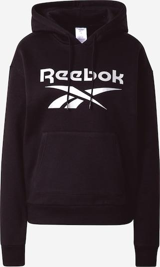 REEBOK Camiseta deportiva en negro / blanco, Vista del producto
