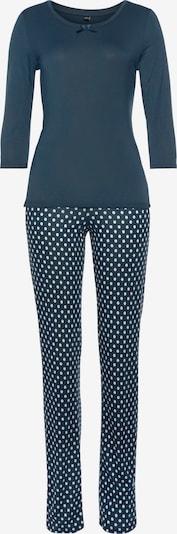 Pijama VIVANCE pe albastru fumuriu / alb, Vizualizare produs