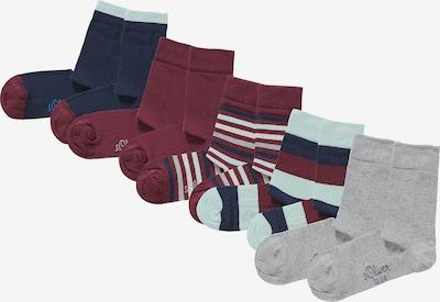 s.Oliver Socken in blau / braun / rot, Produktansicht