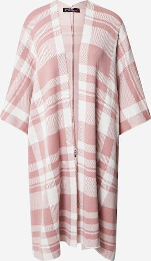 Zwillingsherz Cape 'Poncho' in rosa / offwhite, Produktansicht