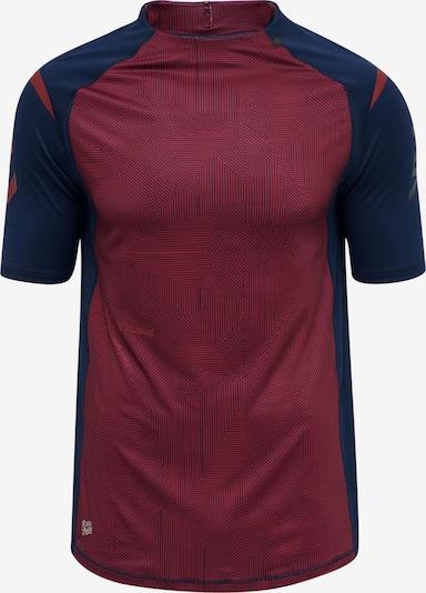 Hummel T-Shirt fonctionnel 'hmlPRO XK PRE GAME' en bleu marine / bourgogne / blanc, Vue avec produit
