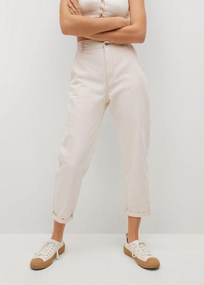MANGO Jeans 'sira' in de kleur Wit gemêleerd, Modelweergave