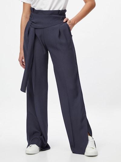 HUGO Pantalon à pince 'Hinane' en bleu foncé, Vue avec modèle