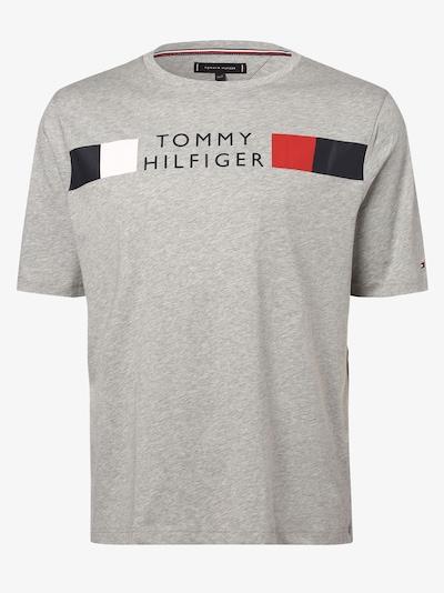 TOMMY HILFIGER T-Shirt in blau / graumeliert / rot / weiß: Frontalansicht