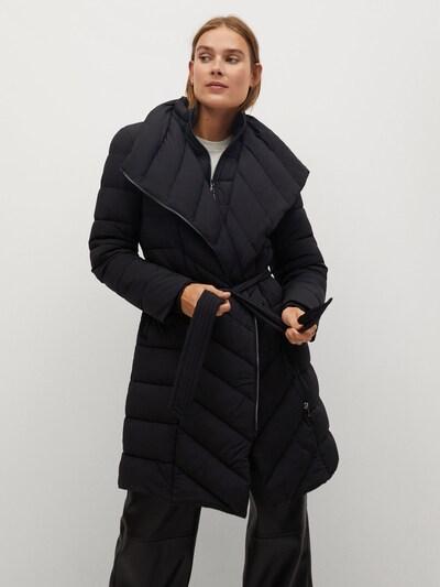 MANGO Wintermantel 'York' in schwarz, Modelansicht