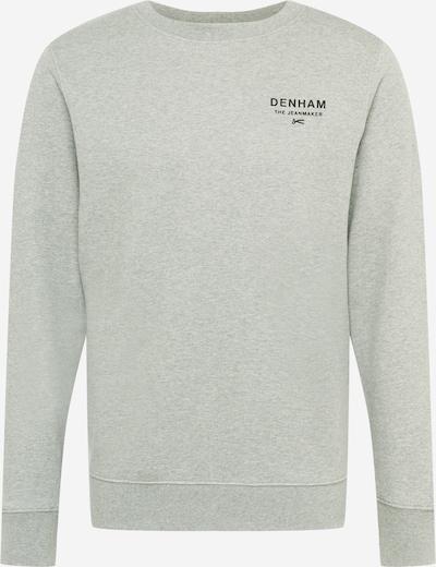 DENHAM Sweatshirt 'ADAM' in de kleur Grijs gemêleerd / Zwart, Productweergave