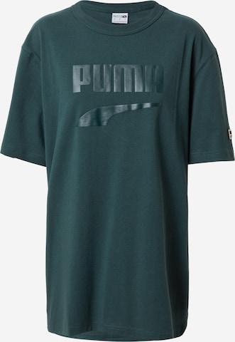 PUMATehnička sportska majica 'PUMAxABOUT YOU' - zelena boja