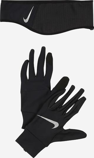 NIKE Accessoires Sporthandschuhe + Haarband in schwarz / weiß, Produktansicht