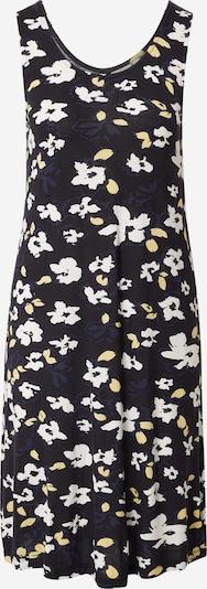 ICHI Kleid in dunkelblau / pastellgelb / schwarz / weiß, Produktansicht