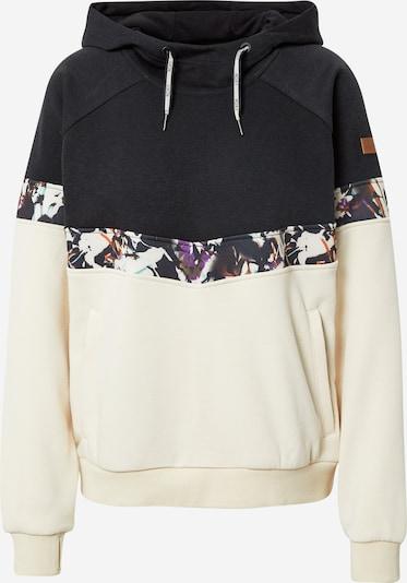 ROXY Athletic Sweatshirt 'LIBERTY' in Dark purple / Black / natural white, Item view