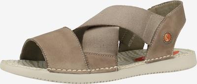 Softinos Sandale in grau, Produktansicht
