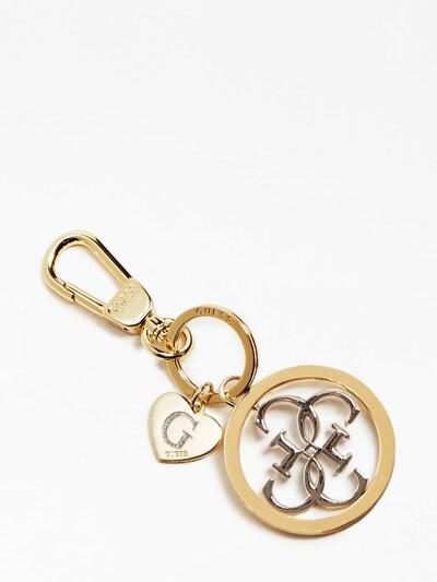 GUESS Schlüsselanhänger in gold, Produktansicht