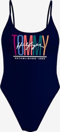 Costum de baie întreg TOMMY HILFIGER pe albastru marin / albastru deschis / portocaliu caisă / roșu cranberry / alb, Vizualizare produs