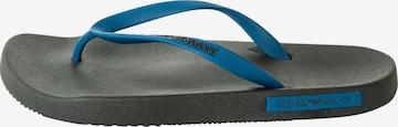 Emporio Armani T-Bar Sandals in Blue
