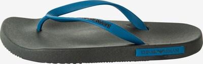 Emporio Armani Zehentrenner in blau / schwarz, Produktansicht
