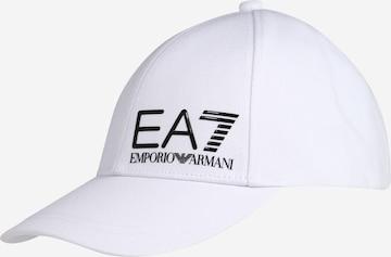 Cappello da baseball di EA7 Emporio Armani in bianco