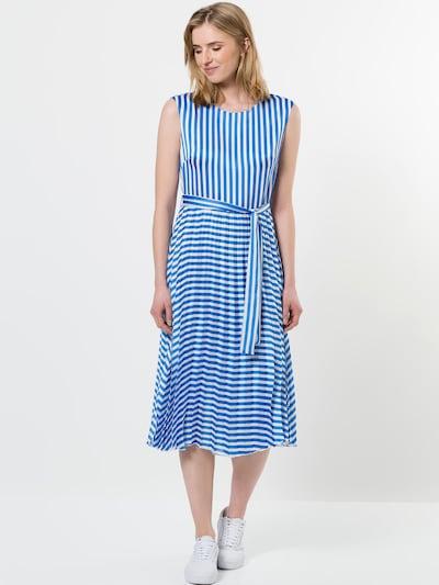zero Midikleid in blau / weiß, Modelansicht