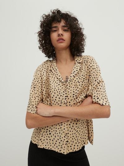 EDITED Blouse 'Gabriela' in de kleur Beige / Zwart, Modelweergave
