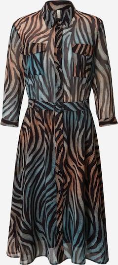 IMPERIAL Kleid in karamell / petrol / schwarz, Produktansicht