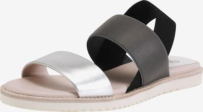 Ekonika Elegante Sandalen mit Gummizug in schwarz / silber, Produktansicht