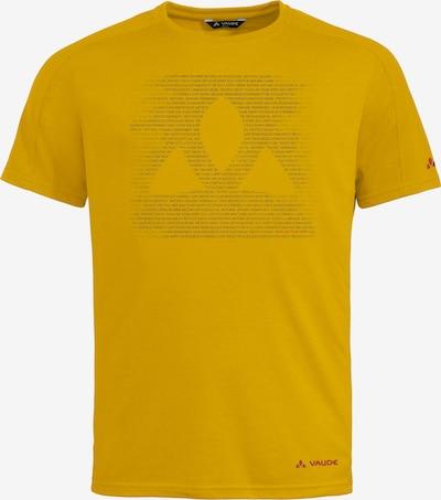 VAUDE Funktionsshirt 'Gleann' in dunkelgelb / schwarz, Produktansicht