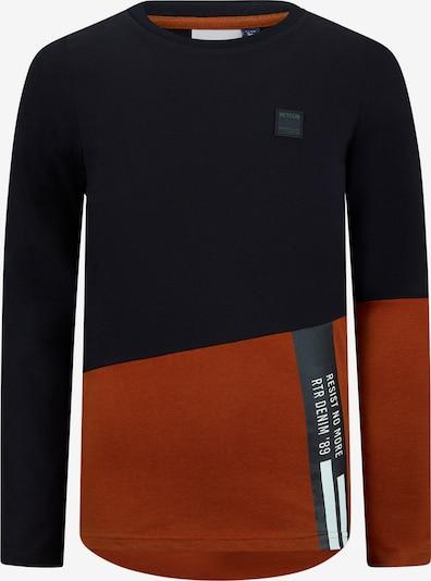 Retour Jeans Shirt 'Easton' in rostbraun / schwarz / weiß, Produktansicht