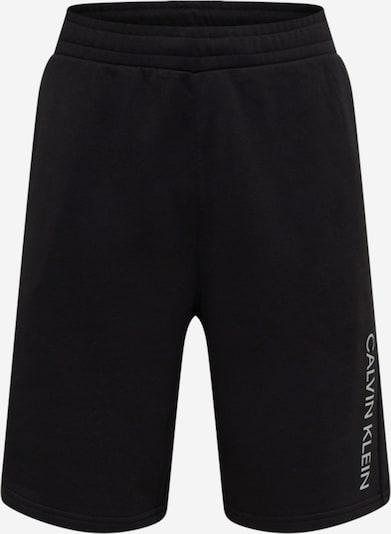 Pantaloni sport Calvin Klein Performance pe negru / alb, Vizualizare produs