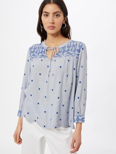 STREET ONE Bluse in royalblau / himmelblau, Modelansicht