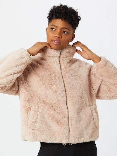 NEW LOOK Prehodna jakna 'THEO FUNNEL NECK FUR' | roza barva: Frontalni pogled
