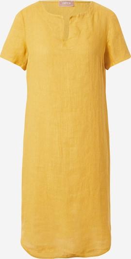 Cartoon Robe d'été en jaune d'or: Vue de face