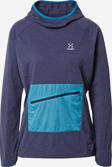 Haglöfs Sportsweatshirt 'Mirre' in navy / türkis, Produktansicht