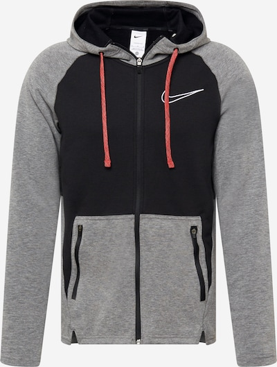 Bluză cu fermoar sport NIKE pe negru / negru amestecat, Vizualizare produs
