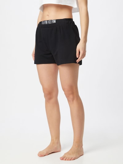 Pantaloni Calvin Klein Swimwear pe negru / alb, Vizualizare model