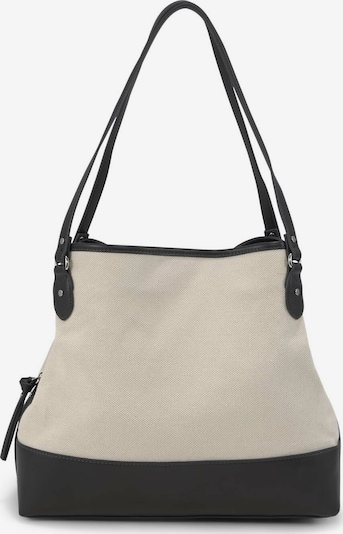 TOM TAILOR Shopper 'Ines' in de kleur Beige / Zwart, Productweergave