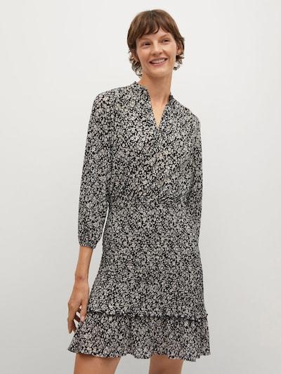 MANGO Kleid 'Rita' in schwarz / weiß, Modelansicht