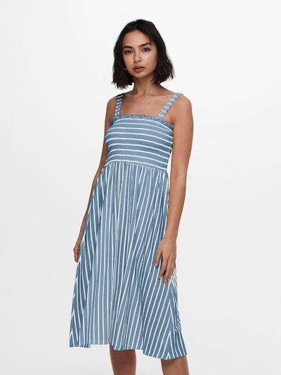ONLY Kleid 'PEPPA' in blue denim / weiß, Modelansicht