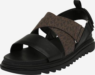 MICHAEL Michael Kors Sandale 'DAMON' in braun / schwarz, Produktansicht