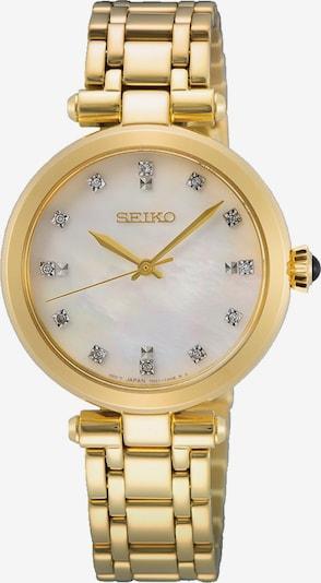 SEIKO Uhr in gold / transparent / weiß, Produktansicht