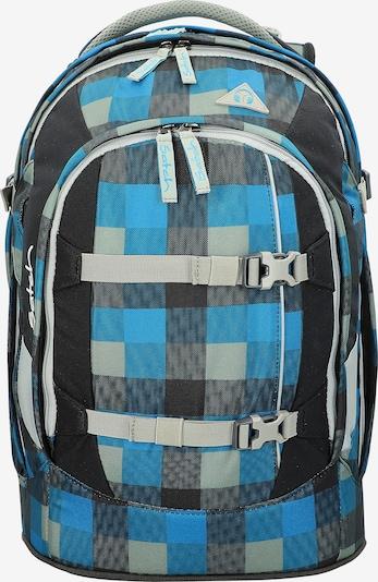 Satch Rugzak in de kleur Blauw / Lichtgrijs / Zwart, Productweergave